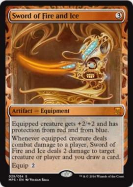 火と氷の剣(Sword of Fire and Ice)(Kaladesh Inventions)