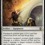 ダークスティール「火と氷の剣(Sword of Fire and Ice)」がカラデシュ「Kaladesh Inventions」の枠で再録!