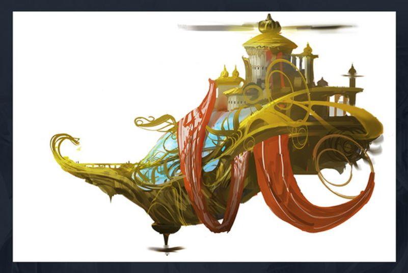 領事の旗艦、スカイソブリン(初期デザイン画)