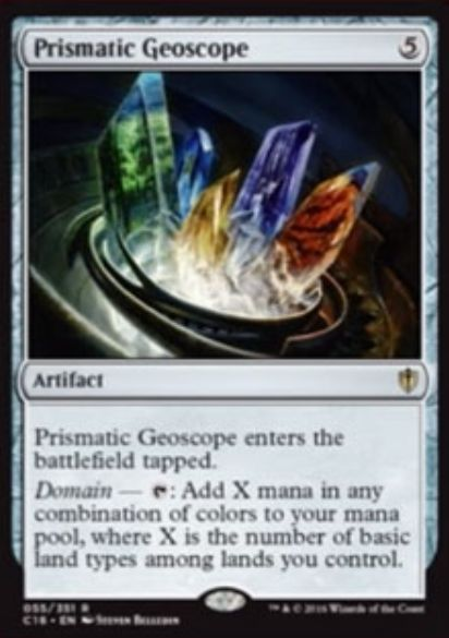 Prismatic Geoscope(統率者2016 レア)