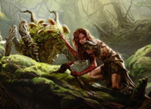 グルール色の伝説神話エルフ「血を蒔く者、ターナ」が統率者2016に収録!4マナ2/2「トランプル」&プレイヤーに戦闘ダメージを与えるたび、その点数分の苗木トークン生産&他の統率者と「共闘」可能!