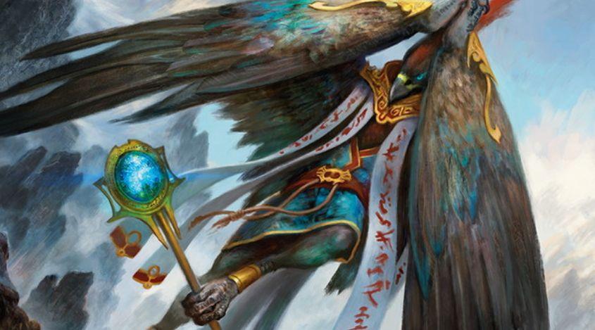 アゾリウス色の伝説神話モンク鳥「オジュタイの龍語り、イーシャイ」が統率者2016に収録!対戦相手が呪文を唱えるたびに+1/+1カウンターを獲得&他の統率者と「共闘」可能!