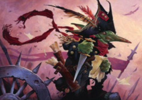 赤レアのならず者ゴブリン「Goblin Spymaster(統率者2016)」が公開!3マナ2/1「先制攻撃」&対戦相手の終了ステップに、対戦相手の戦場に「全クリーチャーに攻撃強制を付与する」を持ったゴブリントークンを生産!
