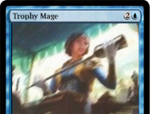 青アンコのウィザード「Trophy Mage(霊気紛争)」が公開!CIPでマナコスト3点のアーティファクトをライブラリーからサーチ!