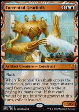 奔流の機械巨人/Torrential Gearhulk(Kaladesh Inventions)