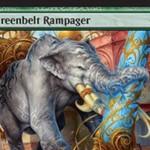 霊気紛争に収録のレア象「Greenbelt Rampager」が公開!1マナ3/4のハイスペックながら、CIPで2個のEカウンターを要求!支払えないなら手札に戻ってEカウンターを1個提供!※日本語名は「緑地帯の暴れ者」!