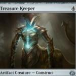霊気紛争収録のアンコモン構築物「Treasure Keeper」が公開!4マナ3/3&死亡時にライブラリートップから3マナ以下の非土地カードがめくれるまで公開し、それを無料プレイ!※日本語名は「財宝の守り手」!