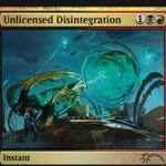 2017年5月のFNMプロモ「無許可の分解(Unlicensed Disintegration)」が公開!カラデシュから再録の、クリーチャー破壊&条件付きプレイヤー火力を持った赤黒インスタント!