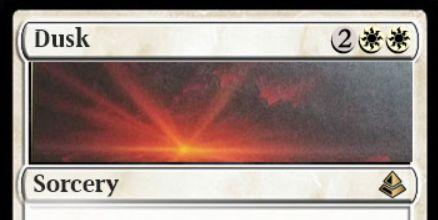 アモンケット収録「Dusk/Dawn」が非公式スポイラーで公開!パワー3以上のクリーチャーを全破壊するソーサリーで、パワー2以下のクリーチャーを墓地から手札に回収する効果を墓地から発動することも可能な分割カード!