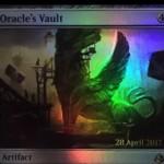 アモンケット「Oracle's Vault」が非公式スポイラーに掲載!不特定2マナ&タップでライブラリートップをプレイ可能状態に!効果を使うたびにカウンターが貯まり、3個以上のカウンターが貯まればタップだけでライブラリートップを無料プレイ!※日本語名は「神託者の大聖堂」!