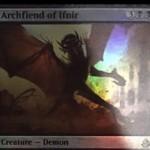 アモンケット収録の黒レアデーモン「Archfiend of Ifnir」が非公式スポイラーに掲載!自身がサイクリングや手札を捨てるたびに、相手の戦場に-1/-1カウンターを振りまく!自身をサイクリングすることも可能!※日本語名は「イフニルの魔神」!