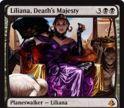 アモンケット収録の「Liliana, Death's Majesty」が公開!ゾンビトークン生産して墓地肥やし&リアニメイトしてゾンビ化&ゾンビ以外全破壊の能力を持った新たなリリアナ!