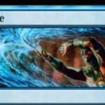 青と白のレア分割呪文「Failure/Comply」が公開!呪文バウンス&余波効果でカード名を指定し、次の自ターンまでプレイ不可に!※日本語名は「腹背/面従」!