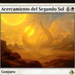 白レアのソーサリー「Ascension of the Second Sun」が公開!ゲーム中に2回唱えれば勝利!1回目ならば7ライフを得てライブラリートップから7枚目に戻る!※日本語名は「副陽の接近」!