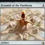 レアアーティファクト「Pyramid of the Pantheon(アモンケット)」が公開!1マナで設置し、不特定2マナを好きな色マナに変換しつつ石材カウンターを貯める!石材カウンターが3個以上貯まれば、タップで好きな色マナ3点を生産!※日本語名は「神々のピラミッド」!