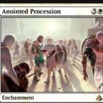 白レアのエンチャント「Anointed Procession(アモンケット)」が公開!自軍に出るトークンの数を倍増する!※日本語名は「選定された行進」!