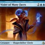 青レアの多相の戦士「Vizier of Many Faces」が公開!青ダブルシンボル4マナの「クローン」!不朽するとクリーチャーをコピーしつつマナコストを持たない白いゾンビとなる!※日本語名は「多面相の侍臣」!