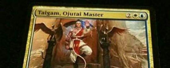 統率者2017「Taigam, Ojutai Master」が非公式スポイラーに掲載!4マナ3/4の伝説人間モンクで、インスタント&ソーサリー&ドラゴンを打ち消し不能に!自身がアタックしていれば、唱えるインスタント&ソーサリーに「反復」を付与する能力も!