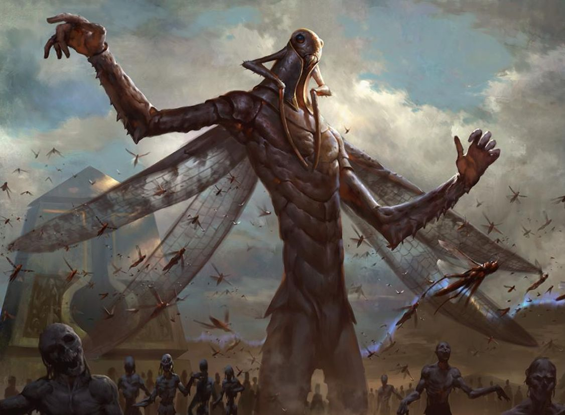 MTG「破滅の刻」に収録される神話ゴッドは「蠍の神」を含めて全3種!ボーラスの3色を分け与えられた2色の神たちが収録!