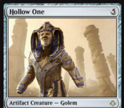 レアのアーティファクト・クリーチャー「Hollow One(破滅の刻)」が公開!5マナ4/4&あなたのサイクリングかディスカードに反応してコストが2点軽減するゴーレム!