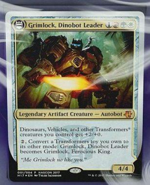 Grimlock, Dinobot Leader(MTG HASCONプロモ)