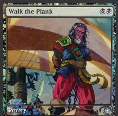 黒アンコのソーサリー「Walk the Plank(イクサラン)」が公開!黒黒でマーフォーク以外のクリーチャーを破壊!