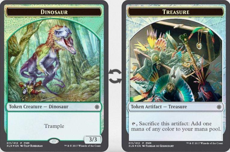 恐竜トークン(トランプル)/Treasureトークン