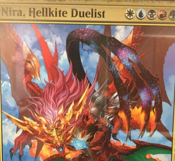 5色の伝説ドラゴン「Nira, Hellkite Duelist」が公開!WotC従業員配布プロモ「Heroes of the Realm」の1枚!