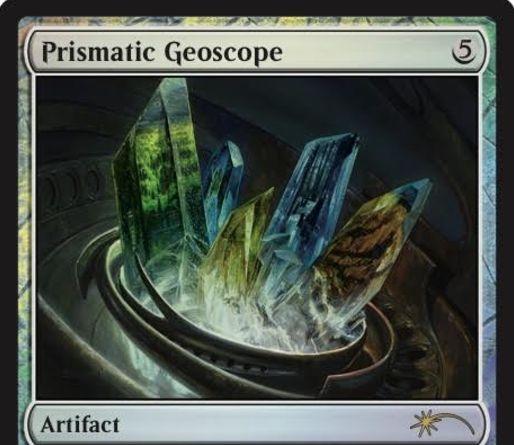 統率者2016「虹色の大地鏡(Prismatic Geoscope)」のジャッジプロモ版カードが公開!