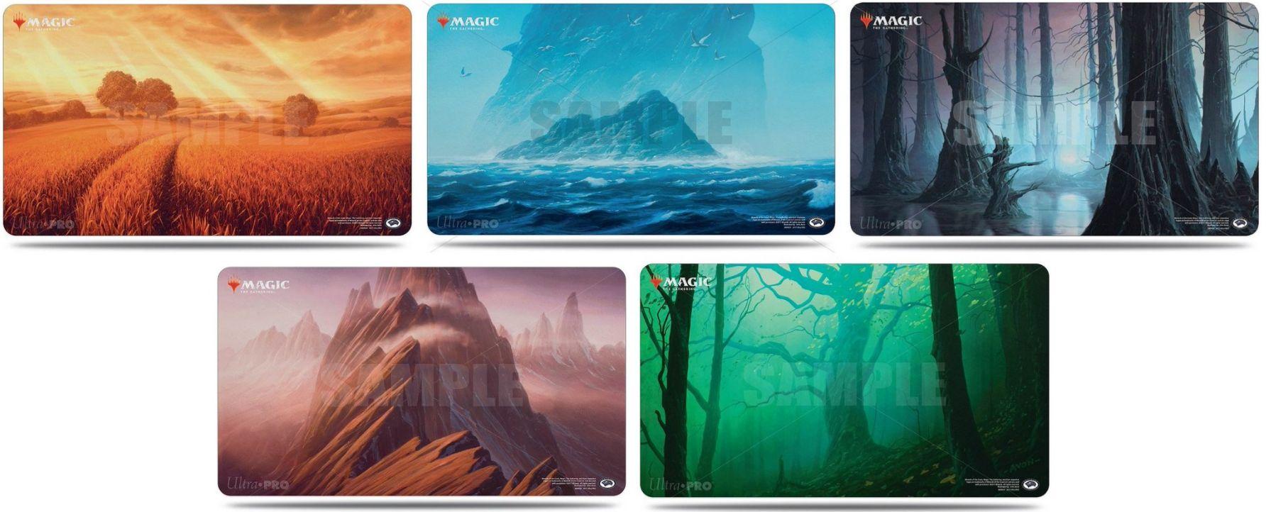 アンステイブル「基本土地プレイマット」がMINTで予約解禁!美麗フルアート土地のイラストがプレイマットに!