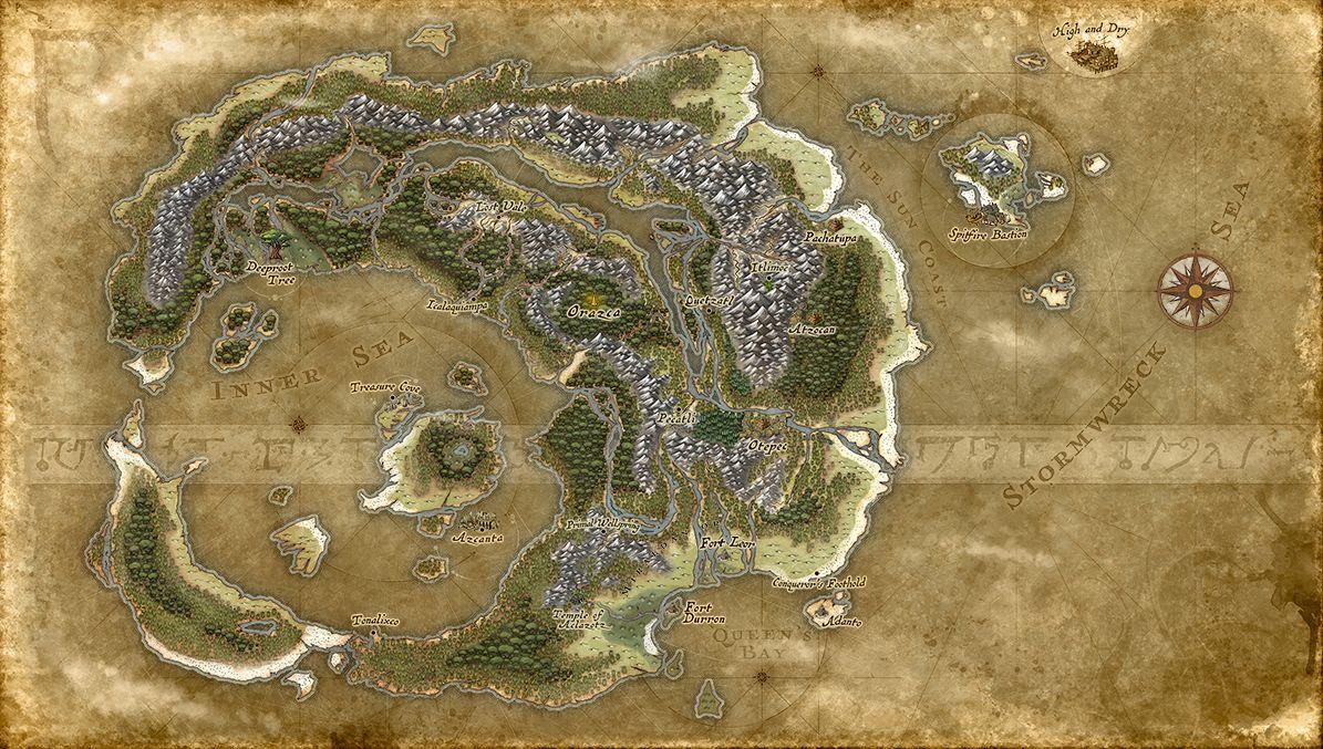 「イクサラン」の地図