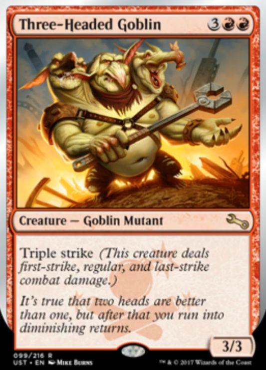 Three-Headed Goblin(Unstable)