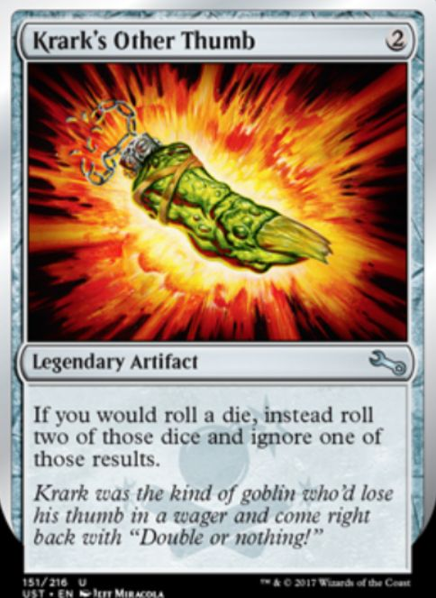 Krark's Other Thumb(クラークの他の親指)アンステイブル収録