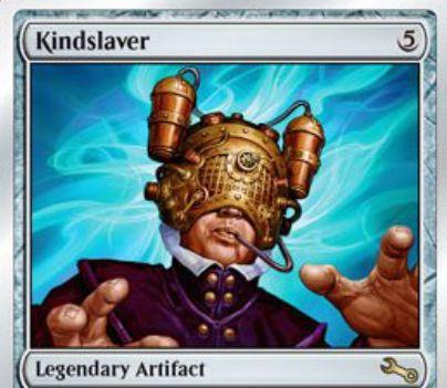 伝説のアーティファクト「Kindslaver(Unstable)」が公開!ゲーム外の誰かがプレイヤー1人の次ターンをコントロールする「精神隷属器」のパロディ・カード!