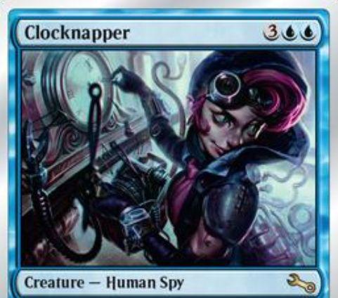 青レアのスパイ人間「Clocknapper(Unstable)」が公開!CIPで相手からフェイズを1つ奪う!