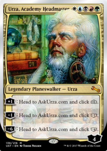 Urza, Academy Headmaster(アンステイブル ウルザ)