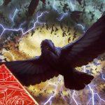 Crow Storm/カラスの嵐雲(フルアート・イラスト MTG「Unstable」壁紙)