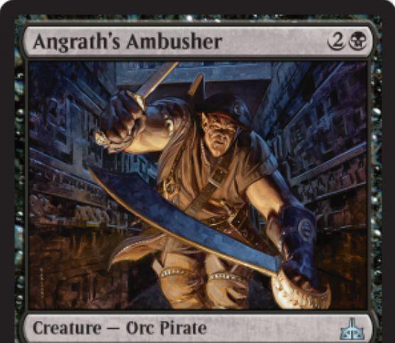 【イクサランの相克】アングラスの名を冠するオーク海賊「Angrath's Ambusher」が公開!3マナ2/3&PWアングラスをコントロールした状態ならばパワーが2増加!
