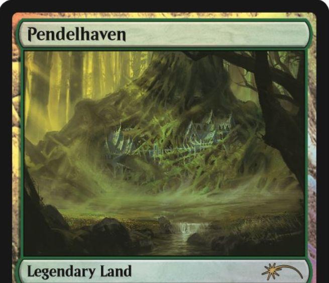 ジャッジ褒賞プロモ版「ペンデルヘイヴン/Pendelhaven」が公開!タップで1/1クリーチャーを+1/+2する伝説の土地!