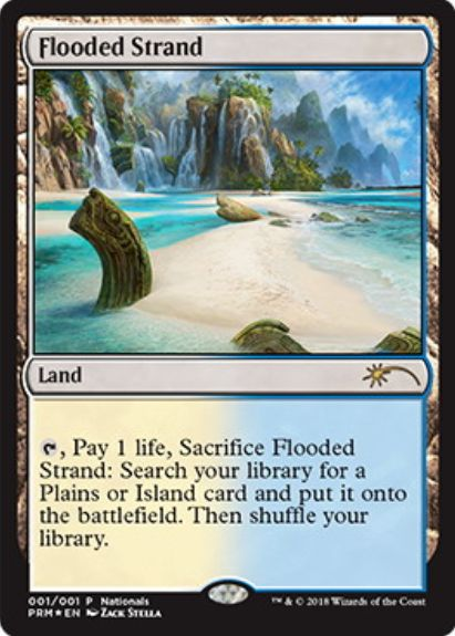 溢れかえる岸辺(Flooded Strand)MTG国別選手権2018配布プロモ
