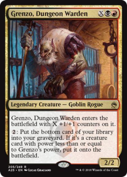 【マスターズ25】地下牢の管理人、グレンゾ(Grenzo, Dungeon Warden)がコンスピラシーより再録!