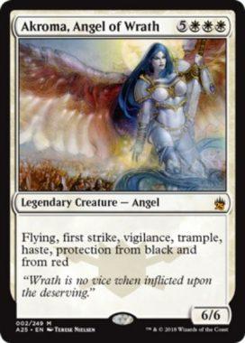【マスターズ25】怒りの天使アクローマ(Akroma, Angel of Wrath)がレギオンより再録!イラストはFtV版のものを採用!