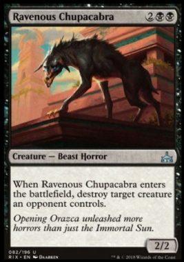 貪欲なチュパカブラ(Ravenous Chupacabra)イクサランの相克