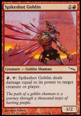 トゲ撃ちゴブリン(Spikeshot Goblin)ミラディン