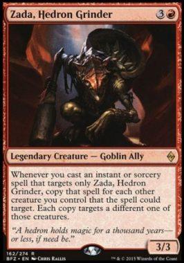 面晶体の掘削者、ザダ(Zada, Hedron Grinder)戦乱のゼンディカー