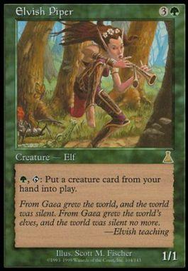 エルフの笛吹き(Elvish Piper)ウルザズ・デスティニー