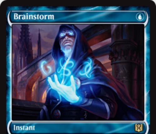 渦まく知識(Brainstorm)が「Signature Spellbook: Jace」に新規アートで再録決定!