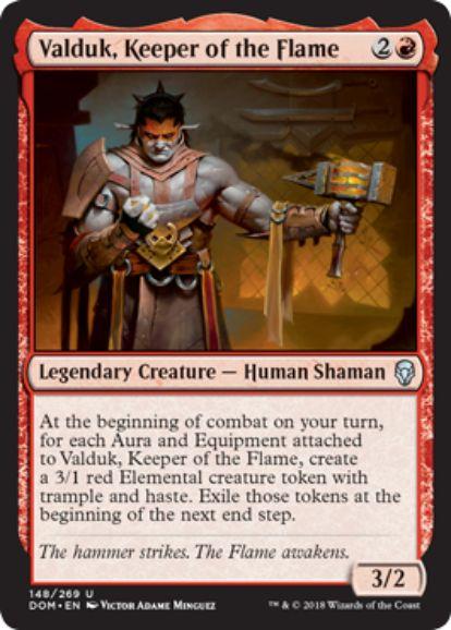 炎の番人、ヴァルダーク(Valduk, Keeper of the Flame)ドミナリア・英語版