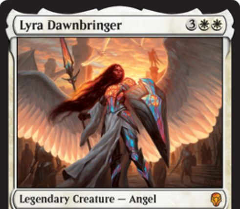 【ドミナリア】白神話天使「Lyra Dawnbringer」が公開!白白3で5/5「飛行」「先制攻撃」「絆魂」&自軍の他の天使を+1/+1しつつ「絆魂」を付与!