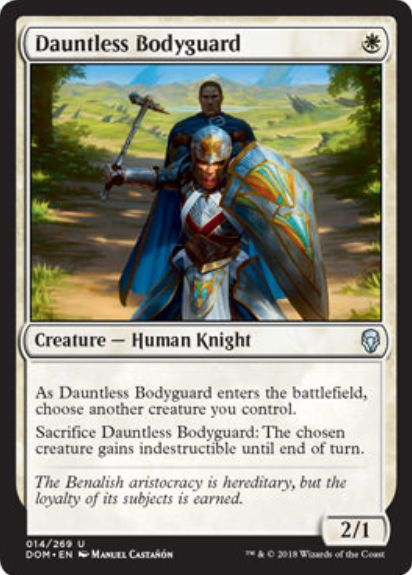 Dauntless Bodyguard(ドミナリア)英語版